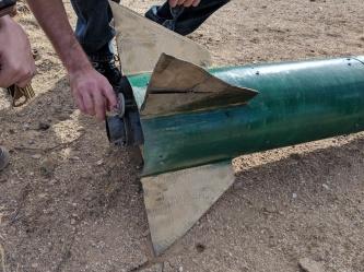 Test Rocket Fins after Landing.jpg